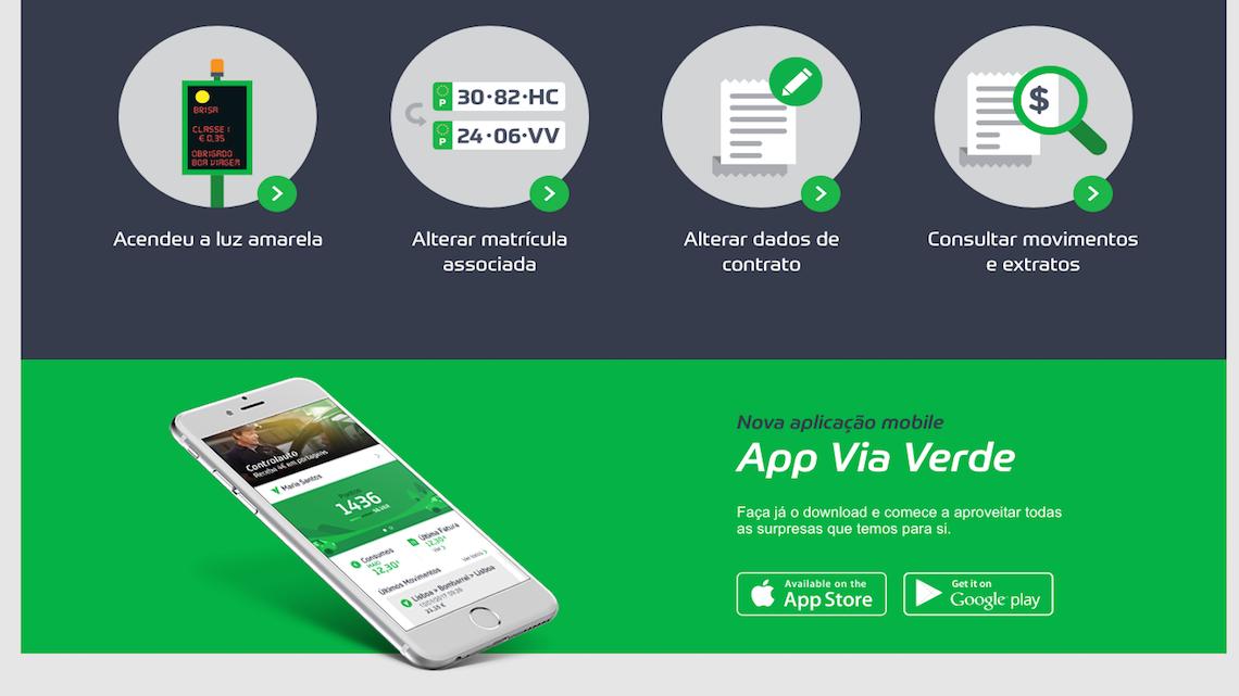 """Via Verde renova aplicação em nome de """"mobilidade eficiente"""""""