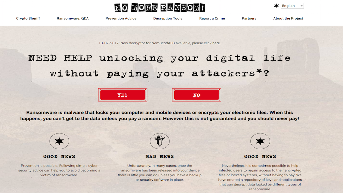 No More Ransom: há um ano a ajudar as empresas a desencriptar os seus dispositivos