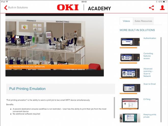 OKI Academy atualiza solução para tablets