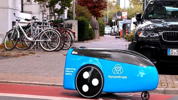 Thyssenkrupp apresenta veículo automático de entrega de materiais