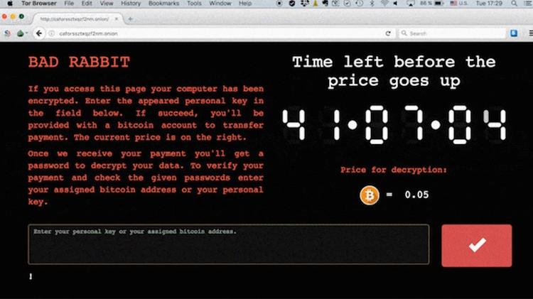 Bad Rabbit: Ransomware volta a propagar-se na Europa