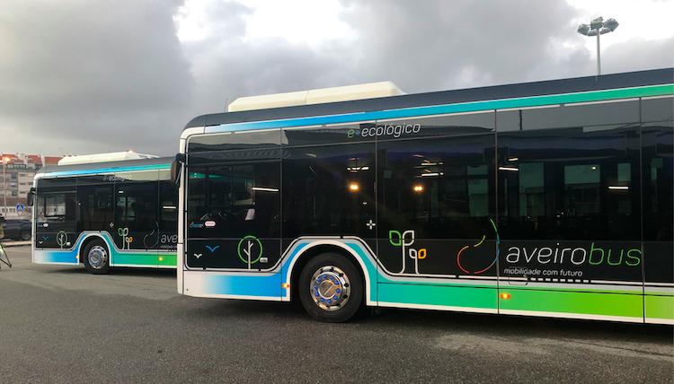 Aveiro passa a ter três autocarros elétricos em circulação